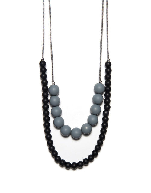 BANDED Baby Accessories + Apparel - Charcoal Double Strand - Teething Necklace
