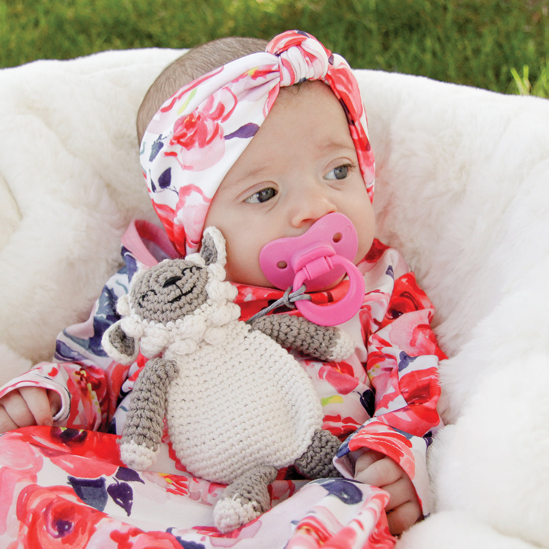 BANDED Baby Headbands + Accessories - Rose Floral - Baby Knot Headband