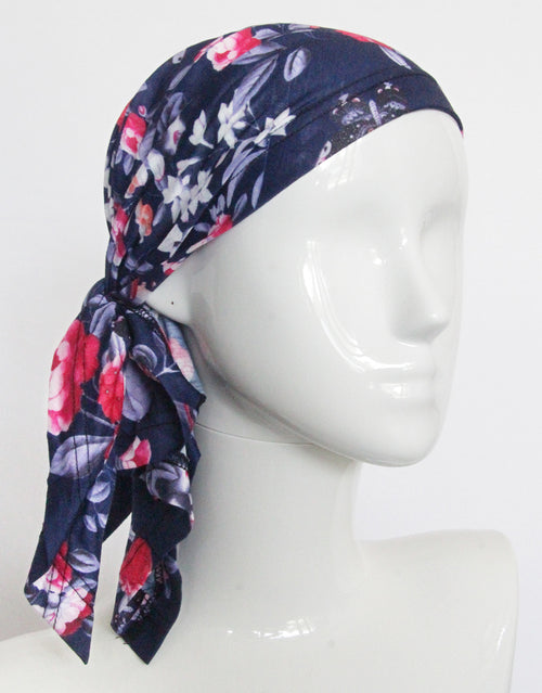BANDED Women's Full Coverage Headwraps + Hair Accessories - Blue Royal Apartment - Multi-style Headwrap
