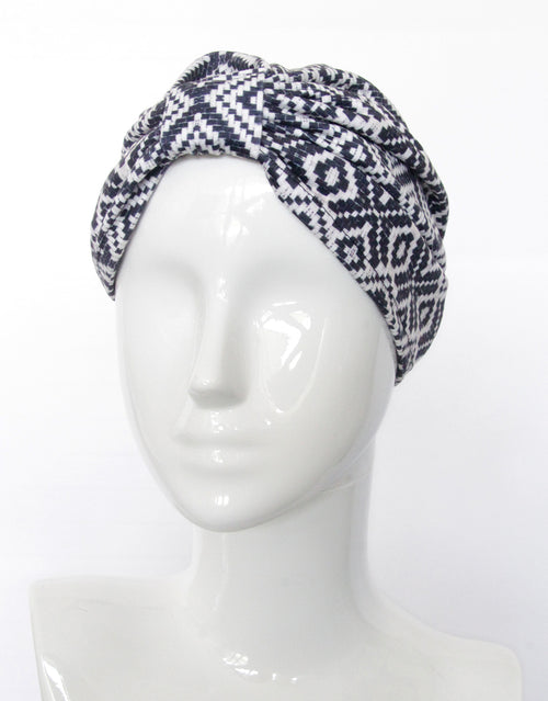 BANDED Women's Full Coverage Turban + Hair Accessories - Colonial Geo - Fashion Turban