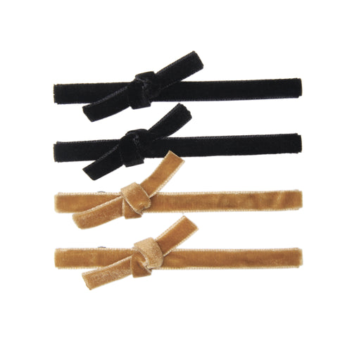 BANDED Hair Accessories Amber Shadow - Velvet Alligator Clips