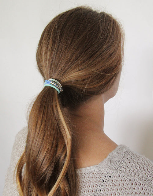 BANDED's Hair Ties + Accessories - La Mer Disk - Embellished Hair Ties