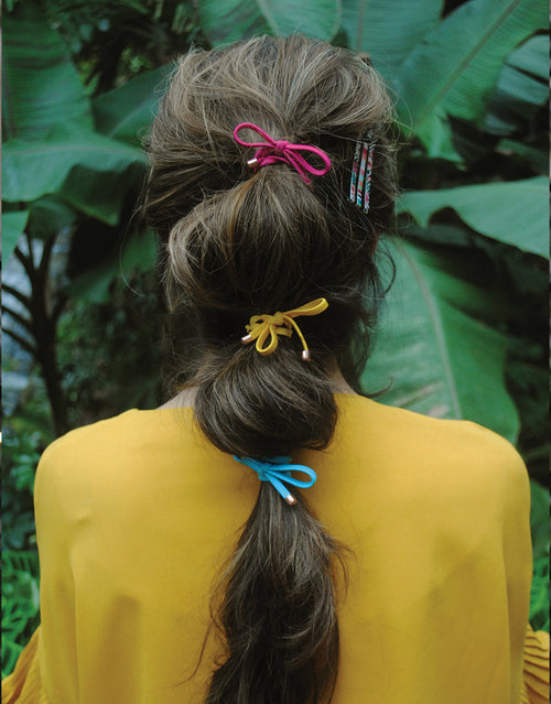 BANDED's Hair Ties + Accessories - Tropical Fruit Bow - Embellished Ties