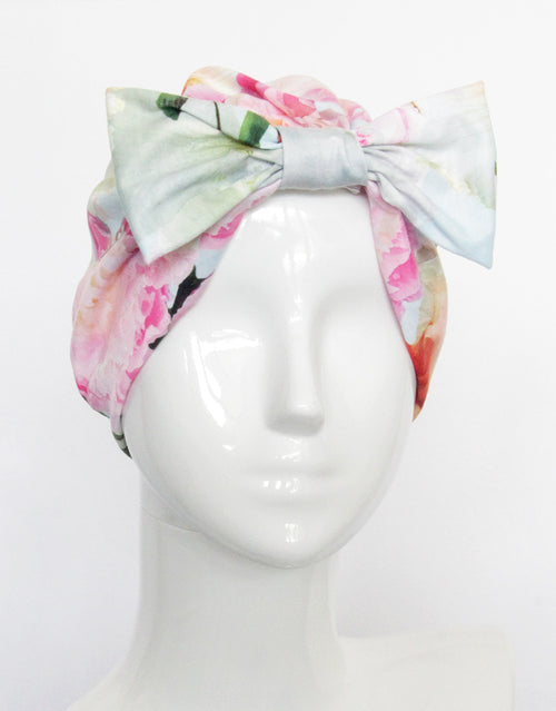 BANDED Women's Full Coverage Headwraps + Hair Accessories - Peony Splendor - Fashion Turban