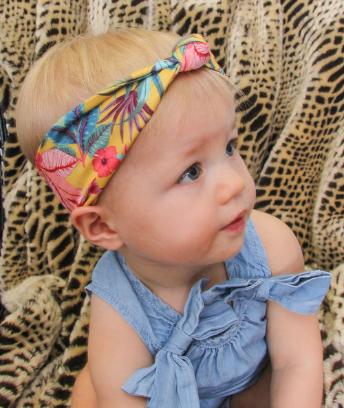 BANDED Baby Headbands + Accessories - Havana Daze - Baby Knot Turban