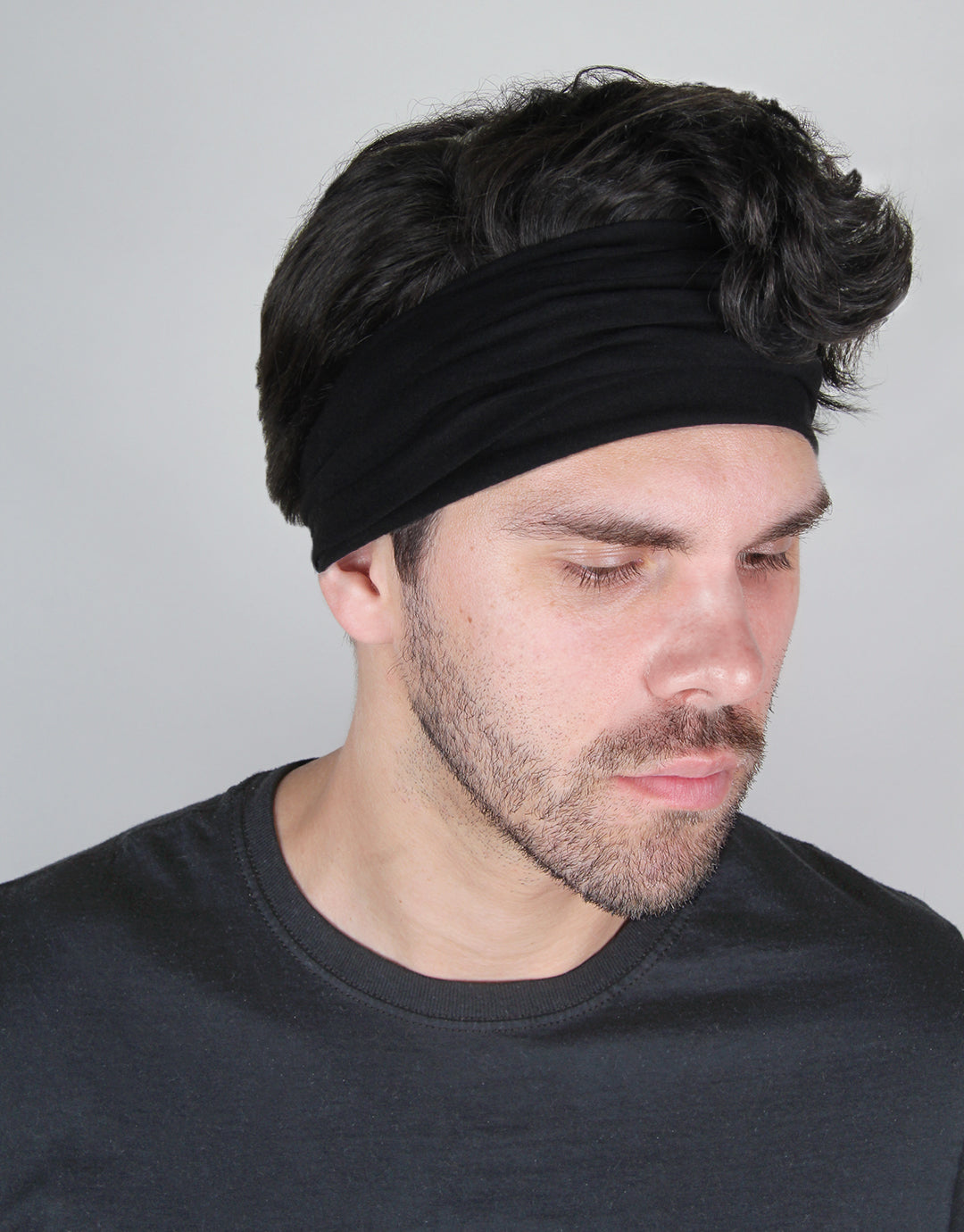 Black - Men's Infinity Headwrap / Face Mask