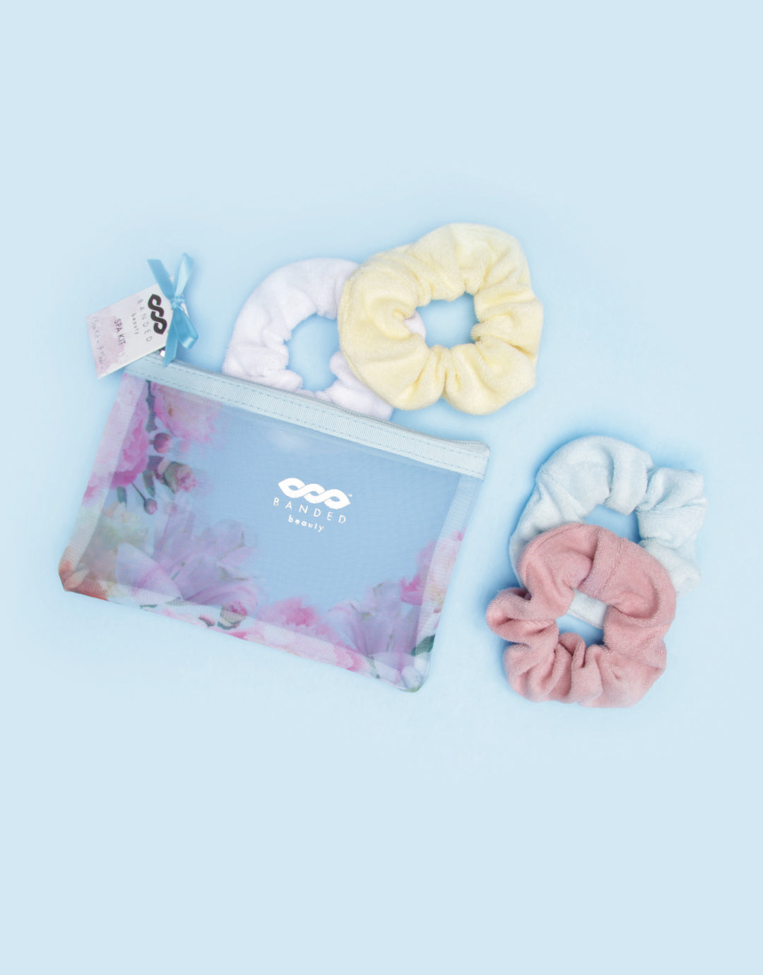BANDED Women's Premium Hair Accessories + Gift Sets - Floral Splendor - Scrunchie Spa Set