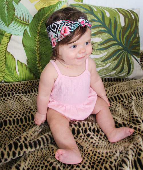 BANDED Baby Headbands + Accessories - Tropic Geo - Baby Knot Turban