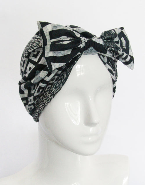 BANDED Women's Full Coverage Headwraps + Hair Accessories - Versailles Tile - Fashion Turban