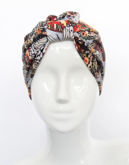 BANDED Women's Full Coverage Headwraps + Hair Accessories - Winter Butterfly - Fashion Turban