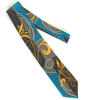 Pangborn Enchantment Silk Tie in aqua, black
