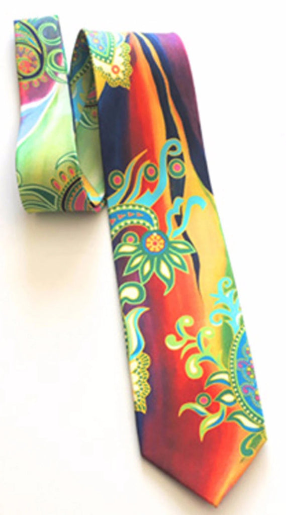 Pangborn Mojave Sunset Orange Silk Tie