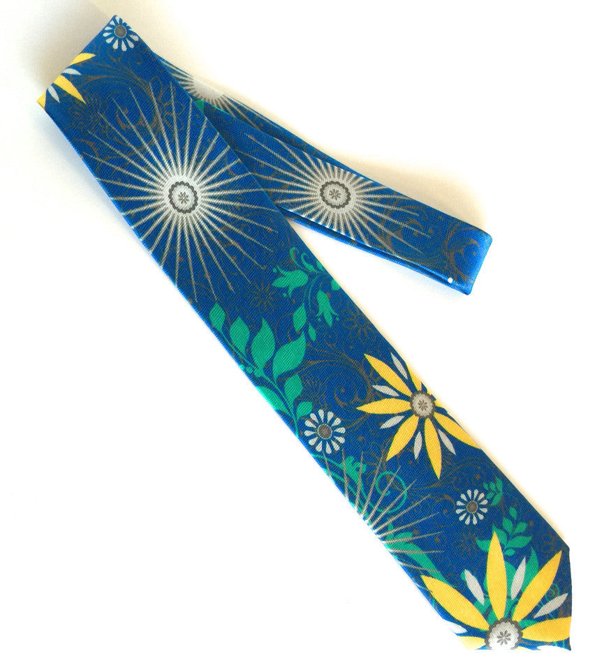 Pangborn Free Spirit Silk Tie in blue, green