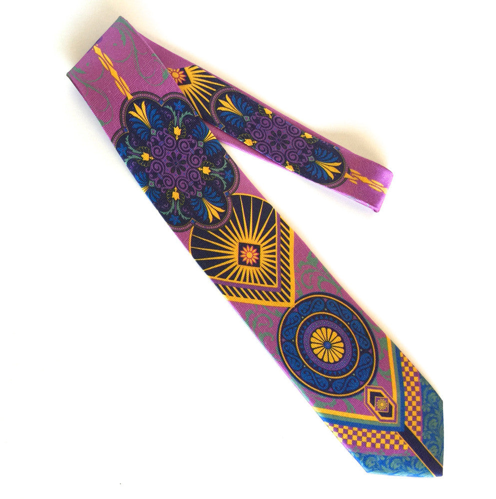 Pangborn Enterprising Silk Tie in lavender
