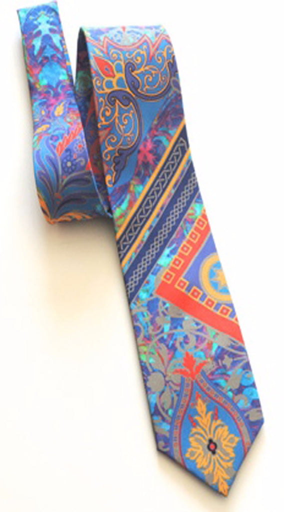 Pangborn Rendezvous in Blue Silk Tie