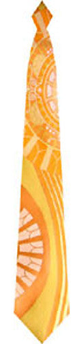 Pangborn Roman Holiday Woven Tie in orange
