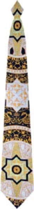 Kaleidoscope woven tie with rhinestone accents