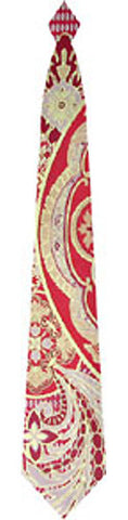 Pangborn Renaissance Woven Tie in red