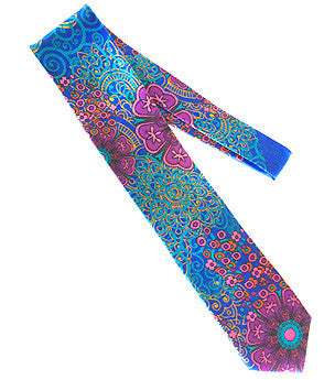 Pangborn Fascination Silk Tie in purple, blue