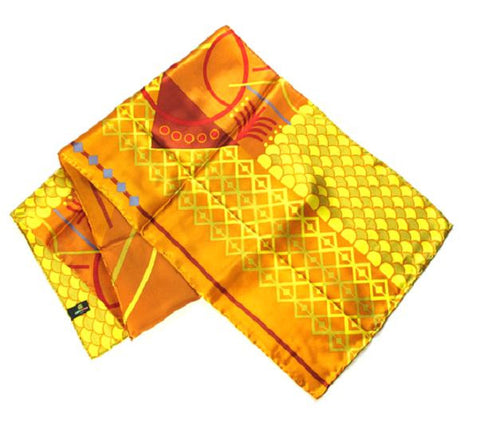 Geometrics on Orange - Pangborn Design Scarf