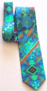 Pangborn Excursion Aqua Silk Tie