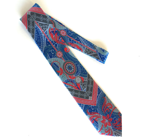 Pangborn Prosperity Silk Tie in blue, red