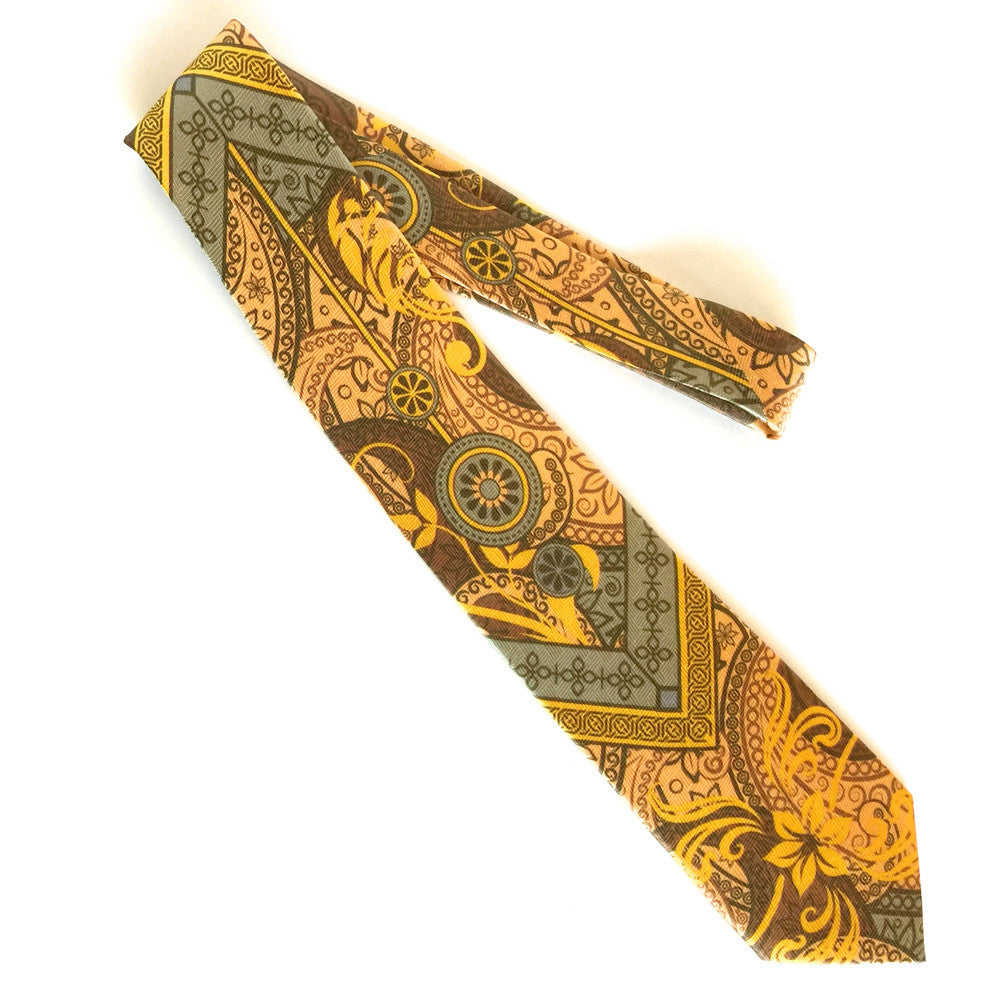 Pangborn Prosperity Silk Tie in gold, taupe