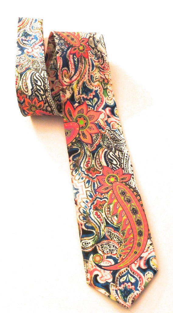Pangborn Regal Orange Red Silk Tie