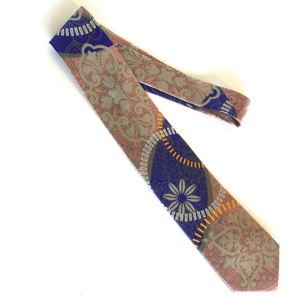 Pangborn Radiance Silk Tie in navy, bronze