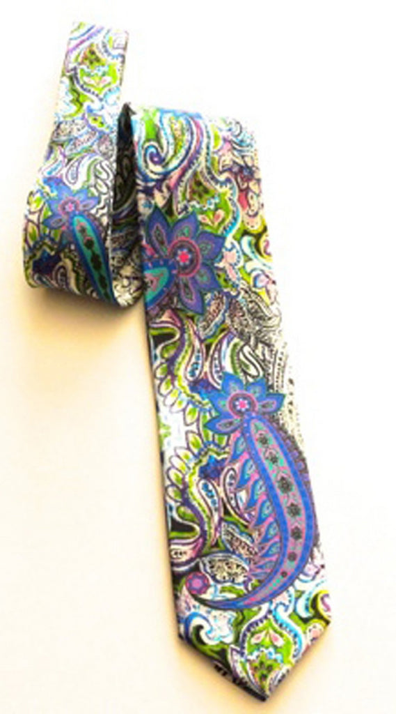 Pangborn Regal Purple Green Silk Tie