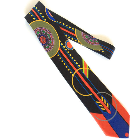 Pangborn Vitality Silk Tie in orange, black
