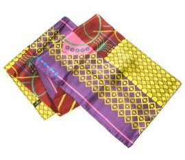 Geometrics in Purple - Pangborn Design Scarf
