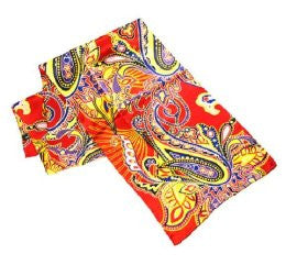 Red Paisley - Pangborn Design Scarf