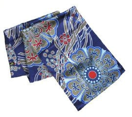 Dancing Stars on Blue - Pangborn Design Scarf 11007