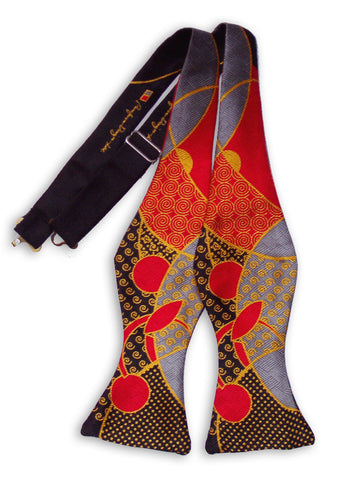 Pangborn Bowtie - Red Accents on Gray and Black