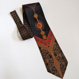 Pangborn Balanced Vintage Tie in navy, red