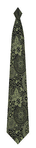 Pangborn Black Etchings Silk Tie