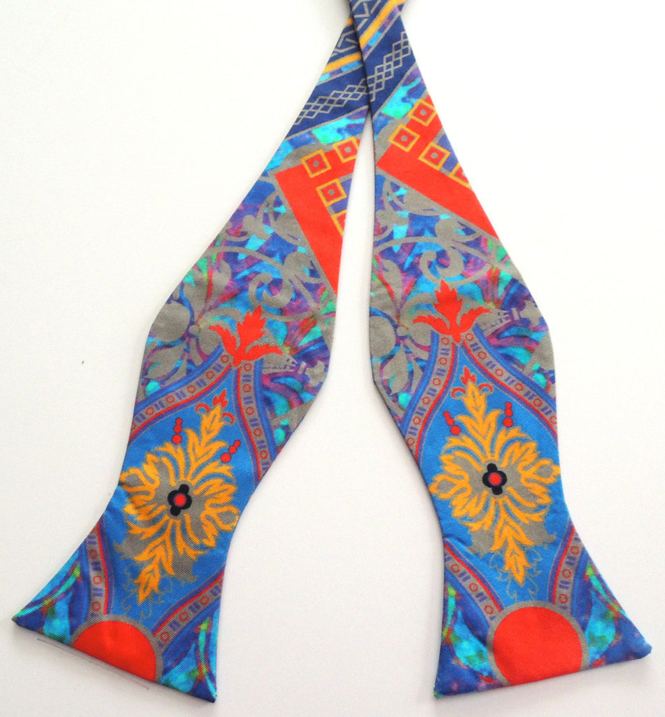 Pangborn Rendezvous in blue Silk Bow Tie