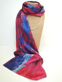 Pangborn Burst of Berries XL Oblong Silk Scarf