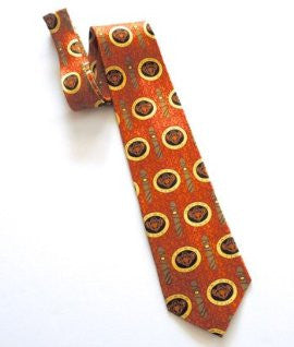 Pangborn Cigar Theme Necktie in orange