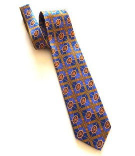 Pangborn Cigar Theme Necktie in blue