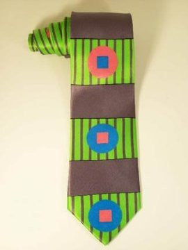 Pangborn Longitude Silk Tie in lime