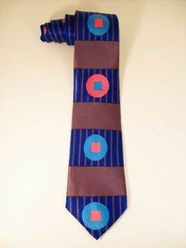 Pangborn Longitude Silk Tie in blue