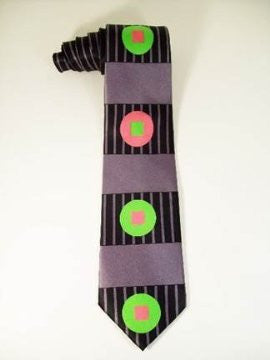 Pangborn Longitude Silk Tie in black