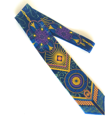 Pangborn Enterprising Silk Tie in blue