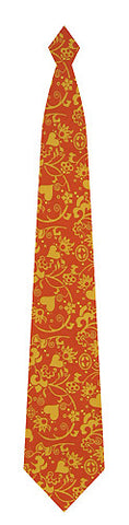 Pangborn Flirtation in orange Silk Tie