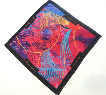 Pangborn Glowing Black Silk Pocket Square