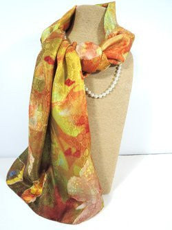 Pangborn Golden Vibes XL Oblong Silk Scarf