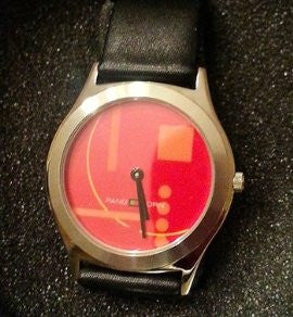 Pangborn Graphic Design Watch in Red