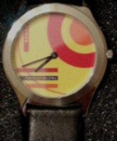 Pangborn Abstract Design Watch in Yellow